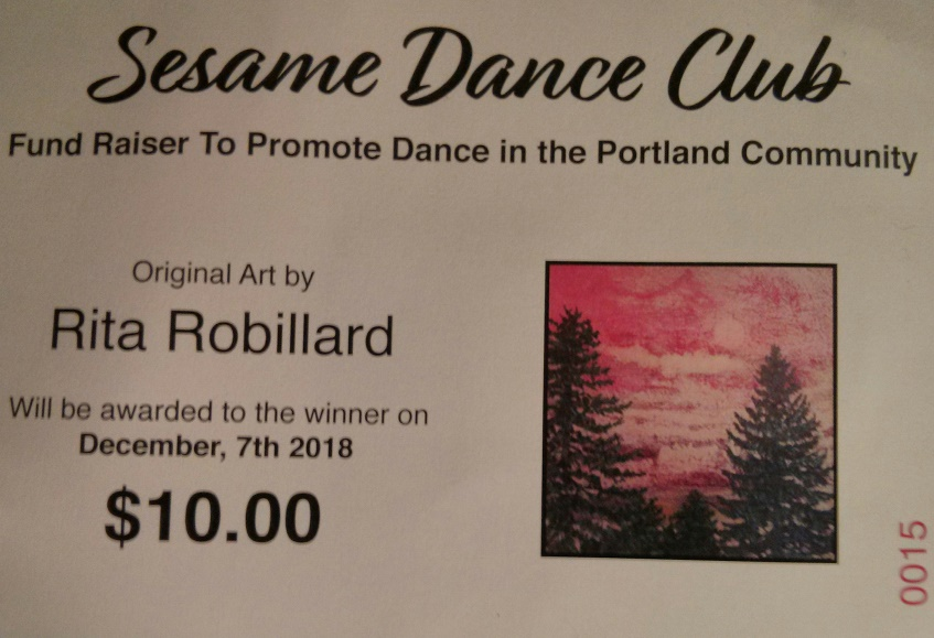 Consider purchasing the chance to win a painting by world renowan painter Rita Robillard to support dancing in the Portland and Vancouver area.